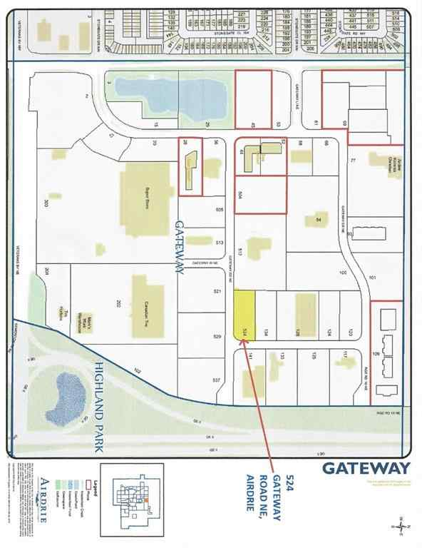 MLS® # A1056412 - 524 GATEWAY  Road NE in Gateway Airdrie, Land Open Houses