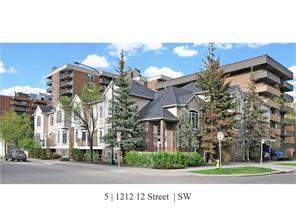 MLS® #C4116938-#5 1212 12 ST Sw in Beltline Calgary Attached