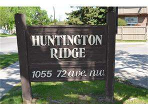 Attached Huntington Hills Real Estate listing at #112 1055 72 AV Nw, Calgary MLS® C4119509