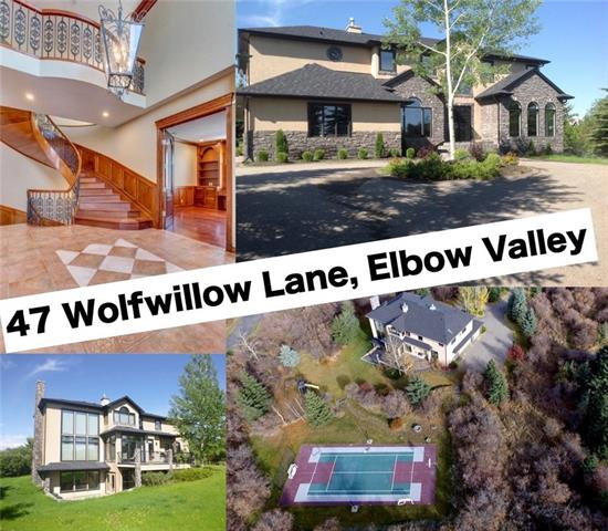 47 Wolfwillow Ln, Rural Rocky View County  Elbow Valley Estates homes for sale