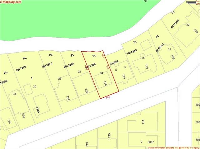 716 Rideau RD Sw, Calgary Rideau Park real estate, Land Rideau Park homes for sale