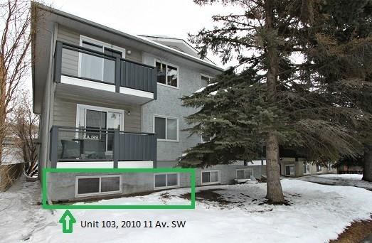 #103 2010 11 AV Sw, Calgary, Sunalta real estate, Apartment Sunalta homes for sale