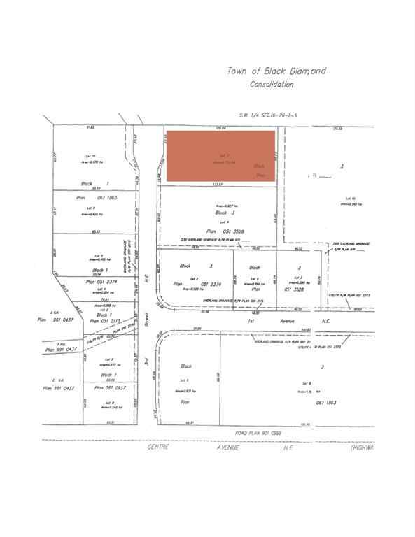 MLS® # A1032384 - Lot 11 3 Street NE in NONE Black Diamond, Land Open Houses
