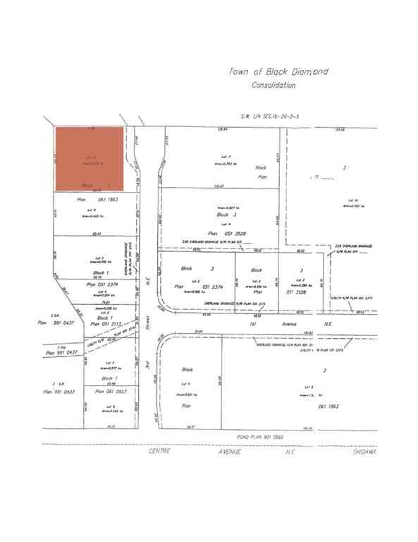 MLS® #A1032423 - lot 10 3 Street NE in NONE Black Diamond, Land Open Houses