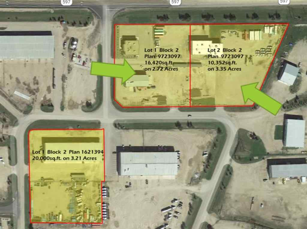 MLS® #A1034631 - 1-3 597 Highway  in Blackfalds Industrial Par Blackfalds, Commercial Open Houses