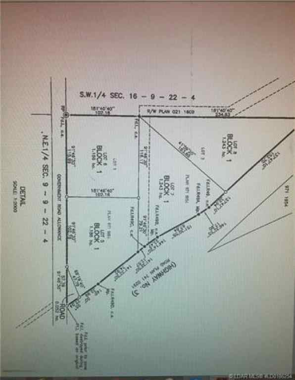 MLS® #A1045481 - Lot 7 Highway 3   in NONE Coalhurst, Land Open Houses