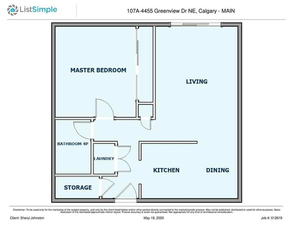 MLS® #A1050086 - Unit #107 4455A Greenview Drive NE in Greenview Calgary, Residential Open Houses
