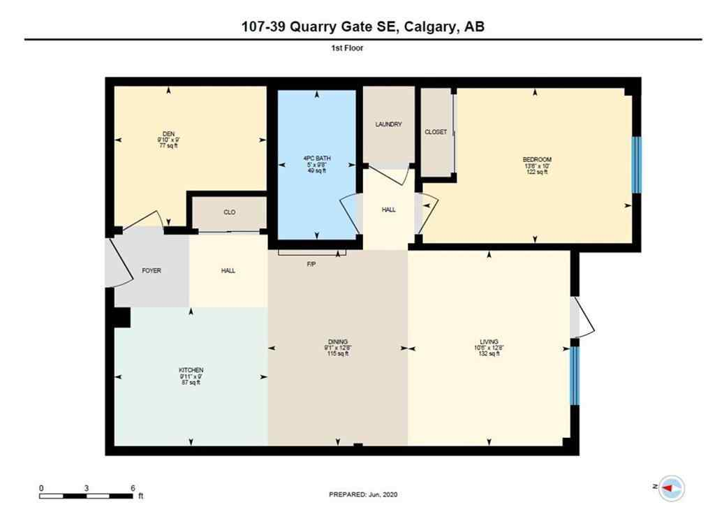 MLS® # C4299950 - Unit #107 39 QUARRY Gate SE in Douglasdale/Glen Calgary, Residential Open Houses