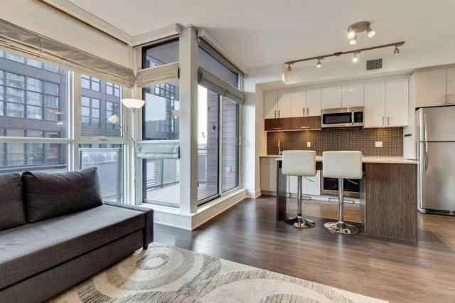 420, 619 Confluence Way SE in Downtown East Village Calgary