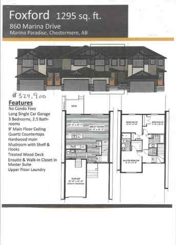 MLS® #A1043844 860 Marina  Drive T1X 1Y6 Chestermere