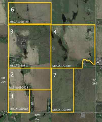 W4R26T25S16;4 Range Road 264   in NONE Rural Wheatland County MLS® #A1050488