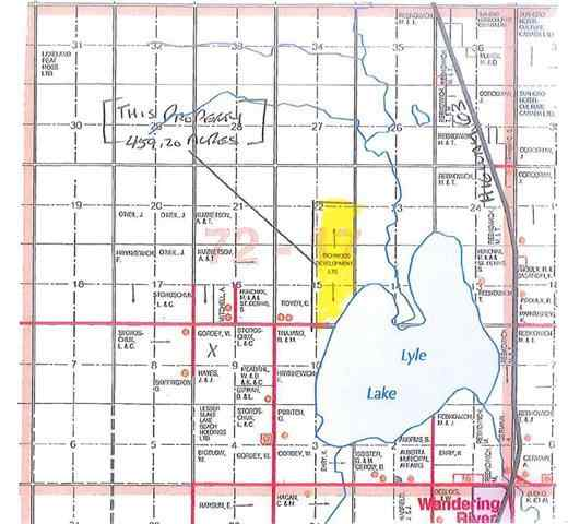 W/R 459.2 Acres - 3 Quarters - Half Mile Lakefront!   in  Wandering River MLS® #FM0175322